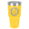 30 Oz Yellow & Silver Coated Ringneck Tumbler with Lid    30 oz. Polar Camel Tumblers