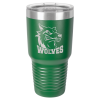 30 Oz Green Coated Ringneck Tumbler with Lid 30 oz. Polar Camel Tumblers