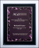Black High Luster Plaque with Violet Border Plate Piano Finish Plaques - Black